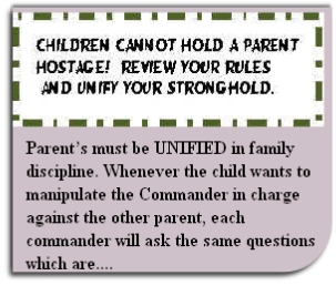 Children cannot hold a parent hostage!