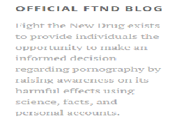 Fight The New Drug (FTND)